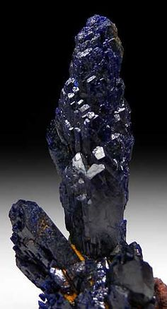 Azurite - Touissit, Touissit District, Oujda-Angad Province, Oriental Region, Morocco From Bou Bekker Mine.