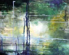 Original Abstract Painting Modern Art Acrylic von AbstractArtM