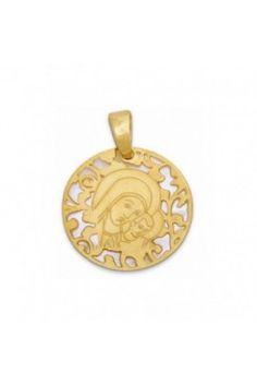 82b8fb0c80ee Medalla exclusiva De Bussy Virgen del Camino Neocatecumenal en plata de ley  chapada en oro de 24 Kt y nácar.