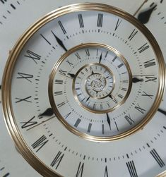 clock face done with droste effect