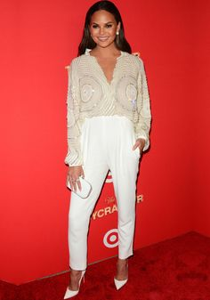 "Chrissy Teigen at the Target ""Toycracker"" premiere in New York on December 8, 2016"