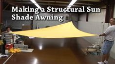 Building a Structural Awning - Sail Shades - Triangular Awning @Laura Gudde @indiana adams shade for your backyard!