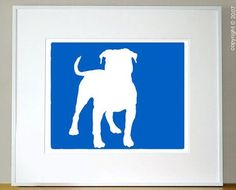Items similar to Mod American Bulldog Print Pit Bull - on Etsy Crazy Dog Lady, Dog Silhouette, Bull Terrier Dog, Dog Birthday, Dog Art, Dog Love, Pup, Pit Bulls, American Bulldogs