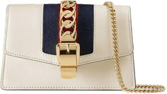 Sylvie leather mini chain bag #House#archives#closure