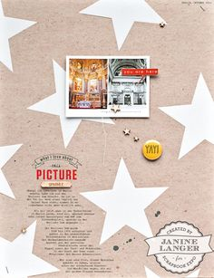 You Are Here scrapbook layout by Janine Langer for Scrapbook Expo