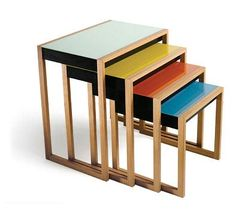josef albers' nesting tables.