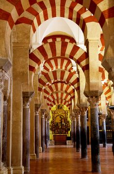 Cathedral de Córdoba / Spain.  A very unique and festive building that was once a Pagan Temple, once a Mosque, and now a Roman Catholic Church.  Córdoba  by flydime, via Flickr.