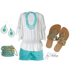 simple summer look by shauna-rogers, via Polyvore