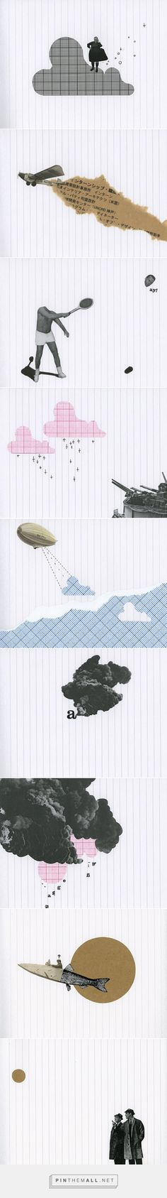 ARTE: I collage su notebook di Raúl Lázaro - Osso Magazine - created via http://pinthemall.net