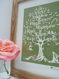 Family Tree Papercut