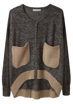I don't really like the sweater that much, but it looks like a sad face so it makes me laugh.