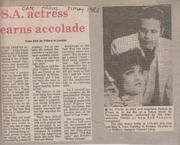 Cape Argus Interview Angelique Rockas, and review  of `In the Bar of a Tokyo Hotel' 1983