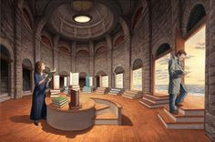 Space between words by Rob Gonsalves born 1959 in Toronto, Canada