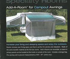 RV POP UP TRAILER AWNING SCREEN ADD A ROOM NEW FITS 7 CAREFREE