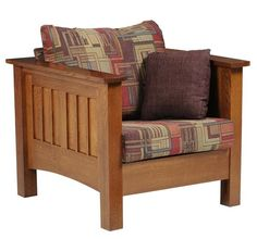 Amish Mount Hope Mission Lounge Chair You can sink right into the Mount Hope Mission Lounge Chair. This beauty is handcrafted in solid wood. Its comfort and beauty will last for generations. Style yours in choice of wood, stain and upholstery with lots of options to pick from. American made wood furniture for living room. #loungechair #livingroom Family Room Furniture, Amish Furniture, Brown Furniture, Handmade Furniture, Furniture Making, Furniture Chairs, Colorful Chairs, Colorful Furniture, Brown Accent Chair