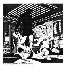 Jim Steranko  - Savage Night Comic Art