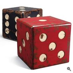 Dice end tables from Grandinroad.com