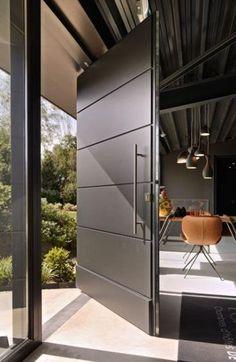 De allerbeste b&b van Nederland - Eingangstür - Door Design Modern Entrance Door, Main Entrance Door Design, Modern Exterior Doors, Door Gate Design, Modern Front Door, Door Design Interior, Wooden Door Design, Front Door Entrance, House Front Door