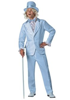 This blue Dumb and Dumber Harry tuxedo costume is a funny movie costume for adults. Get our orange Lloyd costume for a funny duo!