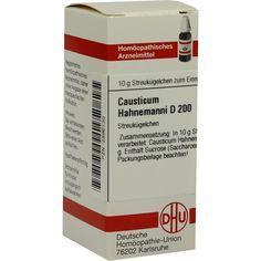 CAUSTICUM HAHNEMANNI D 200 Globuli:   Packungsinhalt: 10 g Globuli PZN: 02896130 Hersteller: DHU-Arzneimittel GmbH & Co. KG Preis: 9,10…