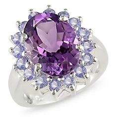Sterling Silver Amethyst and Tanzanite ring:Amazon:Jewelry