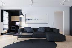 mieszkanie czarne salon_081 Architekci