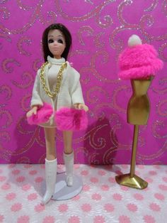Vintage Dawn Doll Angie Wearing 3pc ''Flurry Flounce'' With Dawn Doll GoGo Boots #DollswithClothingAccessories