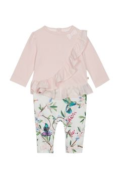 Girls baker by Ted Baker Baby Girls Frill Detail Mockable Romper - Pink Romper Suit, Ruffle Romper, Ted Baker Baby, Latest Fashion For Women, Mens Fashion, Toddler Girl, Baby Girls, Ikon, No Frills