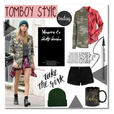 Tomboy contest by maki007 on Polyvore featuring polyvore fashion style J.Crew Topshop Pierre Balmain Brixton Bare Escentuals clothing contest caradelevigne tomboy