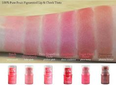 Lovely CosMe Blog: 100% Pure Fruit Pigmented Lip & Cheek Tint in Pink Grapefruit