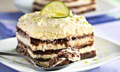 Adoce sua semana, com baixíssimas calorias: hoje tem Pavê de Limão com Biscoito de Chocolate e Iogurte TopTherm - logo mais no Programa Mulheres ;)