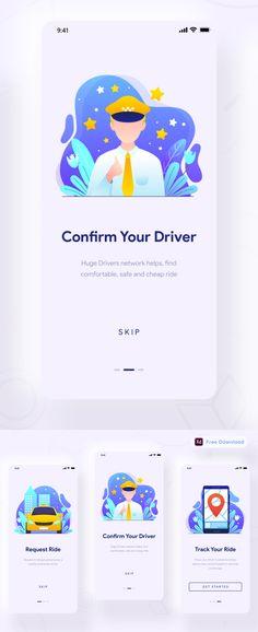 Free Taxi App UI Design Free Font Ui Elements, Design Elements, Taxi App, Cv Resume Template, App Ui Design, Free Graphics, Mockup Templates, Ui Kit, Photoshop Tutorial