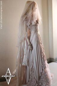 How beautiful. #beautiful #white #medieval #blonde #dream #dream_wedding #dress