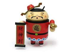 Google Android Cai Shen Dao The Chinese God of Wealth Limited Edition Collectible Toy Figure Chinese New Year 2011 Rabbit by DYZ Plastics / Dead Zebra Inc. / Boldwin Industrial Company, http://www.amazon.com/dp/B004IWAJ02/ref=cm_sw_r_pi_dp_y.-0qb1SM4R29