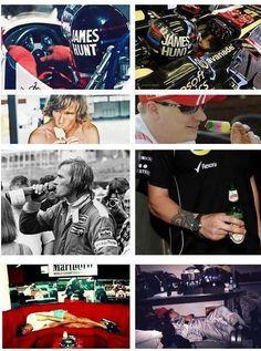 James Hunt & Kimi Räikkönen
