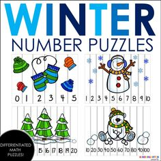 These puzzles are a huge hit, so I figured I should make some for the upcoming winter months! These are great because you can use them now, over the holidays, and all the way up to when the snow begins to melt! My students love these puzzles and it really helps them with their number …