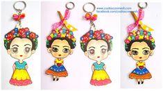 Aprende cómo hacer llaveros de frida kahlo en cartulina para regalar ~ cositasconmesh