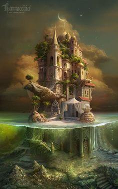 Удивительные Корнаккия сказочное Произведения искусства #FantasyLandscape