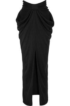 Balmain|Draped jersey maxi skirt|NET-A-PORTER.COM