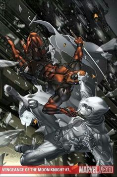 Deadpool and Moon Knight, my two favorite Marvel characters!!!