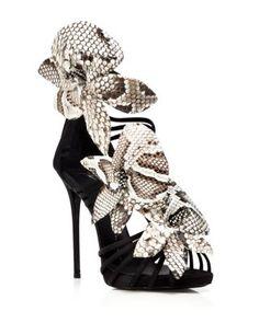 Giuseppe Zanotti Open Toe Platform Evening Sandals - Coline Flower High Heel | Bloomingdale's