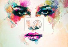 Selecciona un fotomural de abstracto, arte, artista - retrato de la mujer. acuarela abstracta. o de la manera. Fotomurales y vinilos decorativos de PIXERS fabricados de los mejores materiales de impresión de última generación. Selecciona imágenes artísticas de nuestro catálogo - https://www.facebook.com/PIXERS.ES/photos/a.682969311753700.1073741829.681035805280384/889425711108058/?type=1&theater