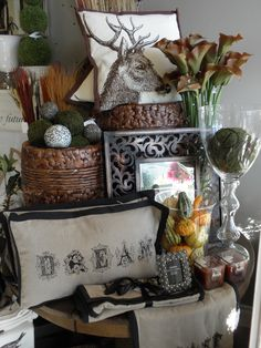 Fall merchandising for Elegant Expressions by Flourish Design & Merchandising. Visual merchandising, display, retail design, fall