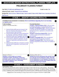 backward planning template backward design instructional planning template doc lessons. Black Bedroom Furniture Sets. Home Design Ideas