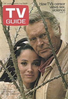"3/6/14  1:03a ""The High Chaparral""  1967-1971  Leif Erickson  Linda Cristal  TV Guide Mag Cover  8/23-29/1969  tvguidemagazine.com"