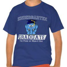 #Kindergarten Graduate the pride of mom  dad T-shirts #graduation