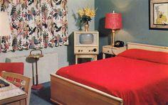 Vintage Postcard  GUS GENETTI, INC.  Hotel and Motel of Distinction