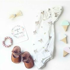 Beautiful Bambi! Our Bambi romper has been a popular one and I can't wait to show you what we have in store next year!