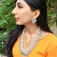 You're set to have a #FaultlessCrush with this one Shop one of our favorite combos the #AsraNecklace and #ApolloStuds as a whole to save yourself 15% //  : @dollyouup_bys // #JewellerySets #ShopNow #Love #Wedding #Fashion #Jewelry #MustHave #Traditional #IndianWedding #Necklace #Choker #Studs #Prerto