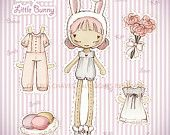 Bear jointed paper doll. $12.50, via Etsy.